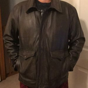 Other - Men's brown leather jacket